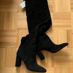 Black Knee High Boots